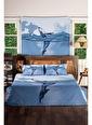 home-bath Çift Kişilik Nevresim Ve Duvar Örtüsü Seti-Deep İn Ocean Renkli